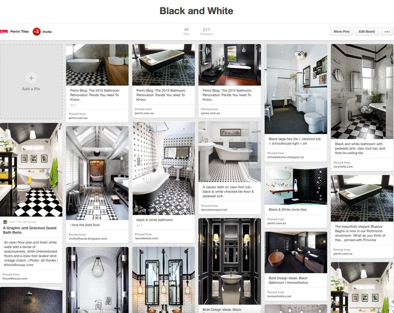 Perini Tiles, Pinterest Board