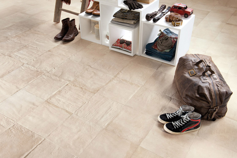 Floor Tiles, Concrete Look Tiles, Herman Collection, White