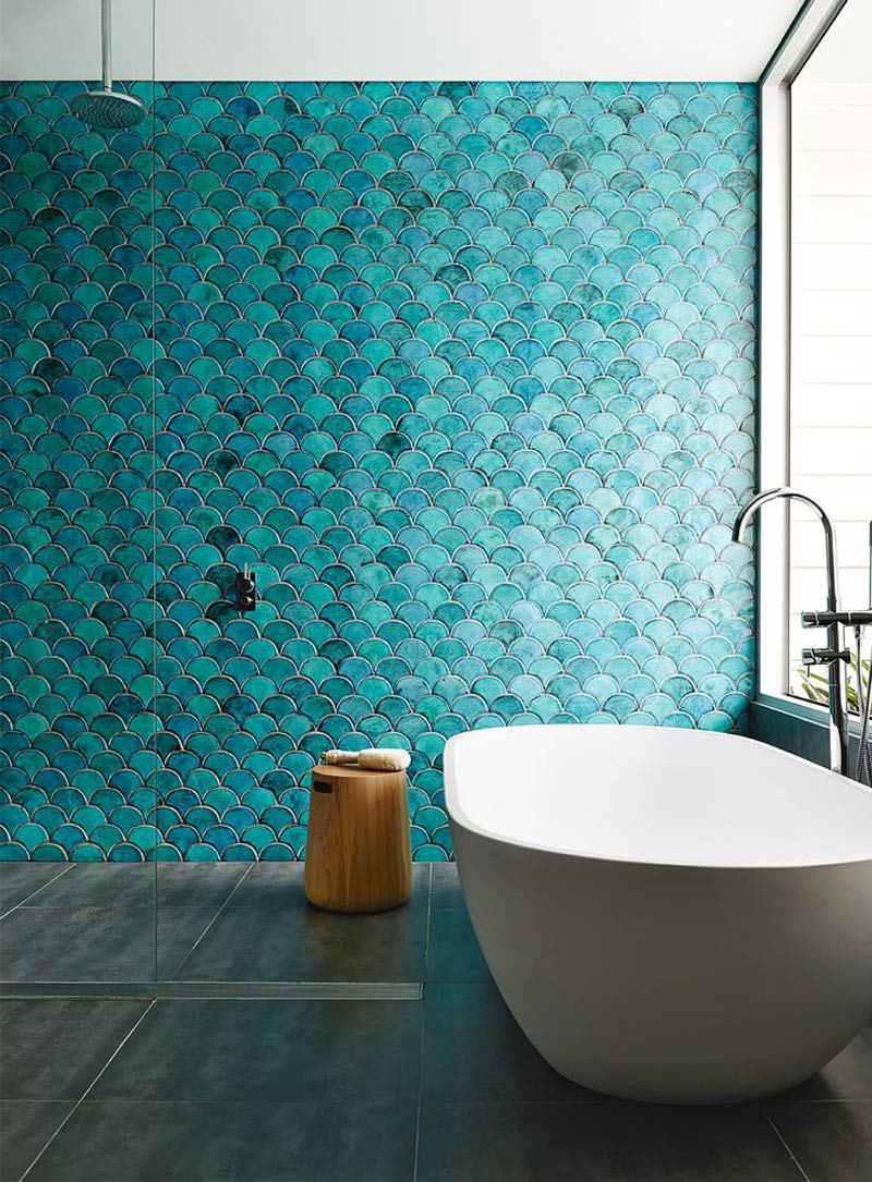 Wall Tiles, Bathroom Tiles, Moroccan Style, Fish Scale Design, Inside Out