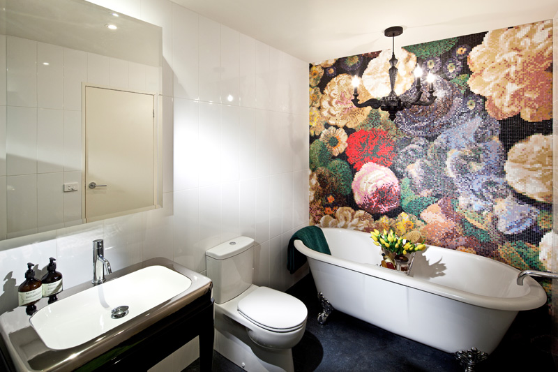 Bathroom Feature Wall Tiles, Mosaic Tiles, Bisazza Bouquet