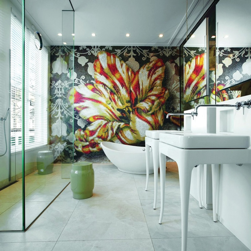 Wall Tiles, Floor Tiles, Bathroom Tiles, Feature Wall Tiles, Bisazza Custom Designed Mosaic Pattern