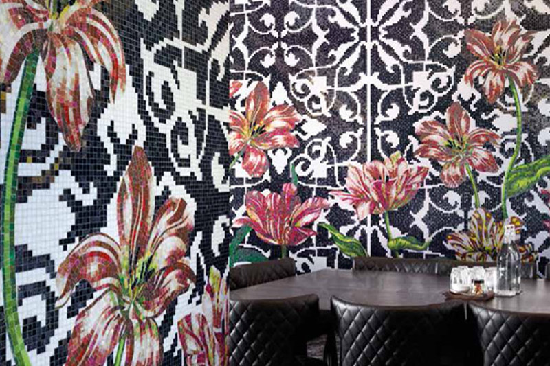 Wall Tiles, Bisazza Tiles, Tulips Design by Marcel Wanders