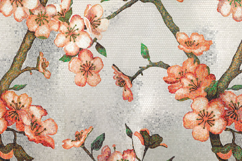 Wall Tiles, Bisazza Tiles, Peachtree design by Carlo Dal Bianco