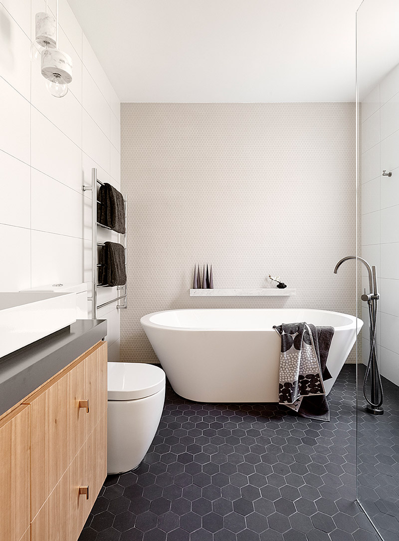 Bathroom Tiles, Kiklo Penny Round Mosaic Tiles