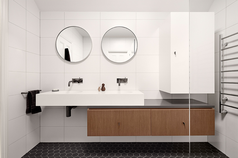 Bathroom Tiles, Hexagon Atila Floor Tiles, White Gloss Wall Tiles