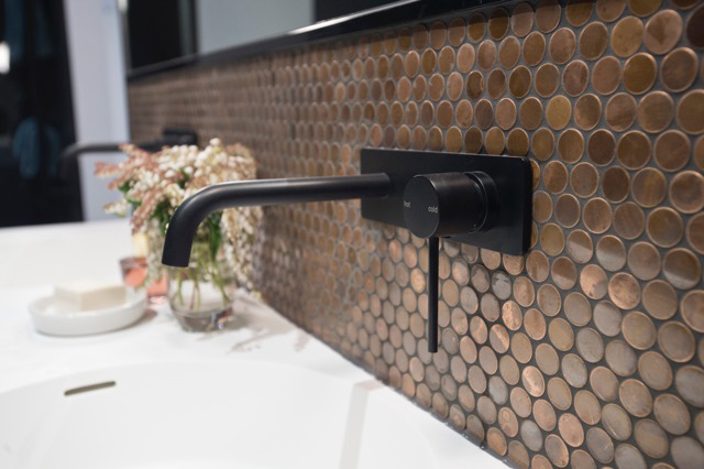 Bathroom Tiles, Mosaic Tiles, Cobre Collection, Copper, Helen McVean Projects