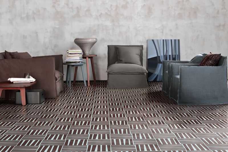 Wall Tiles, Floor Tiles, Patterned and Decorative Tiles, Bisazza Cement Tiles, Atlantic Collection