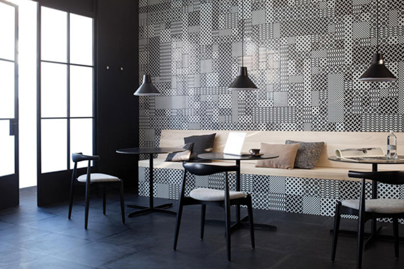 Wall Tiles, Patterned and Decorative Tiles, Monochrome Pattern