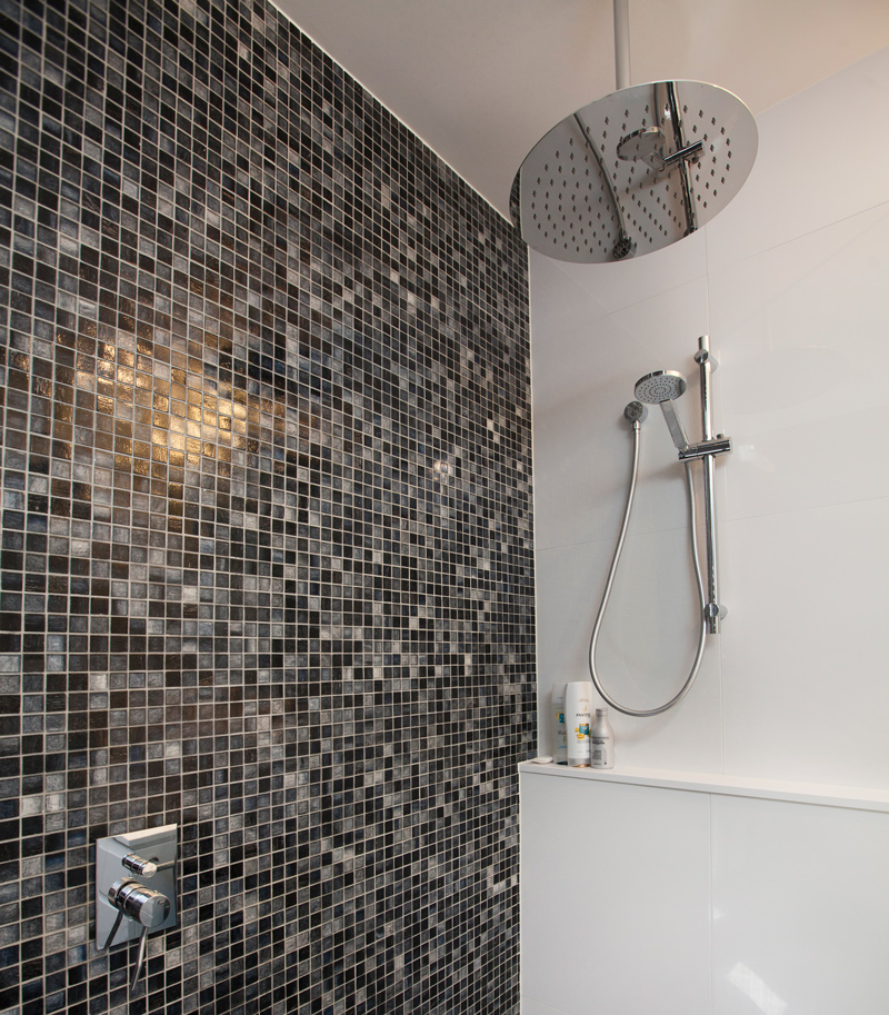 mosaic tiles bathroom wall
