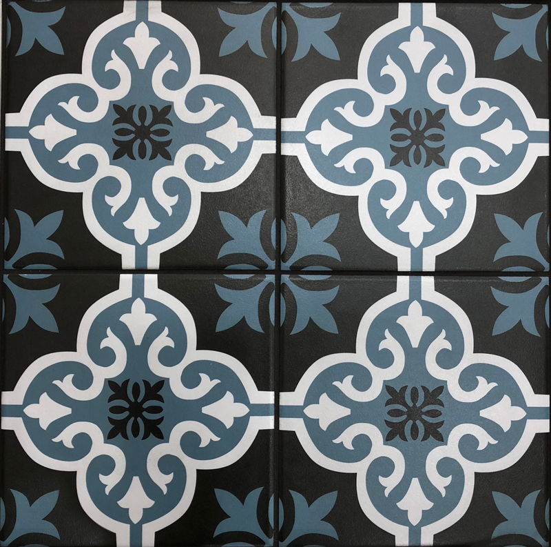 vintage patterned porcelain tiles