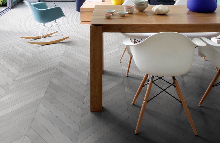 chevron porcelain tiles