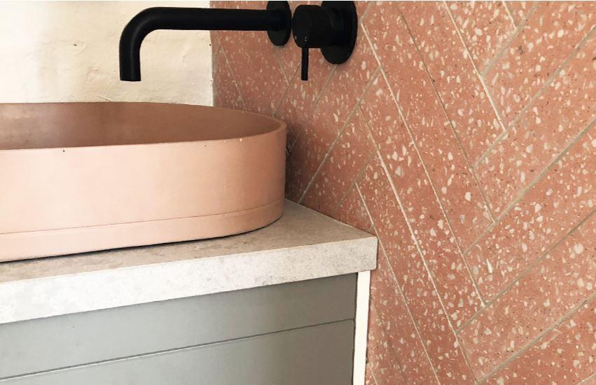 Perini pink terrazzo