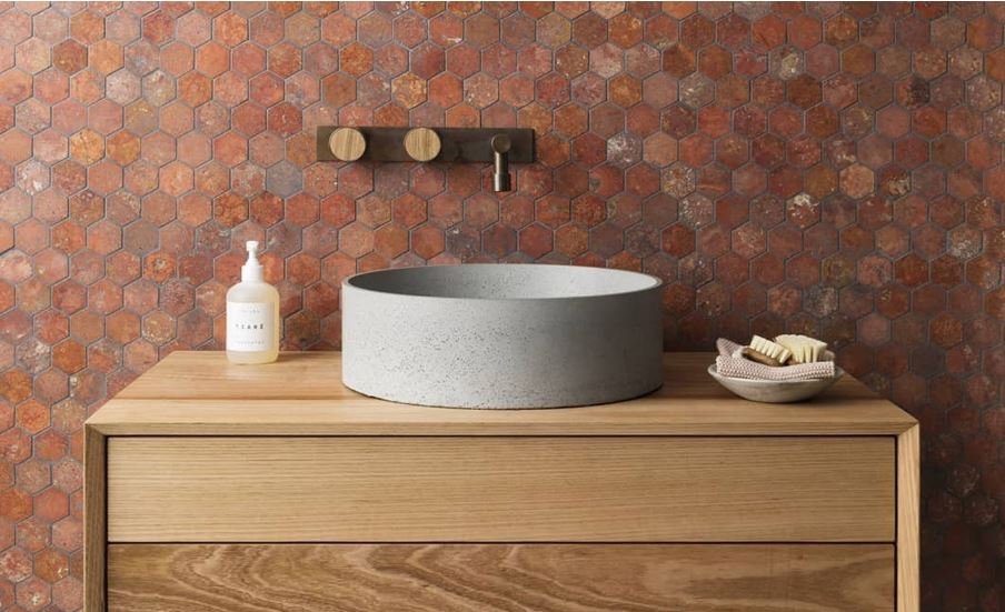 red travertine collection