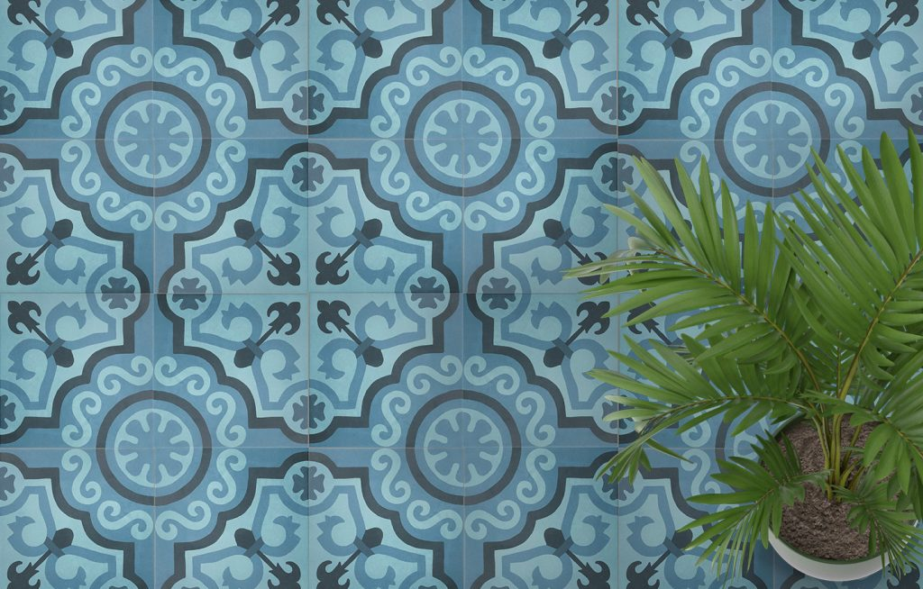 Porcelain pattern tiles