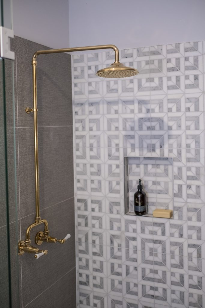 gold shower tap ware