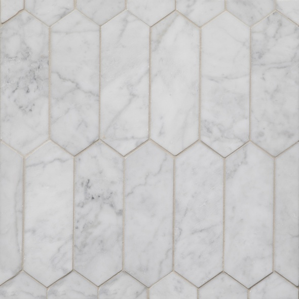 Carrara Long Hexagon
