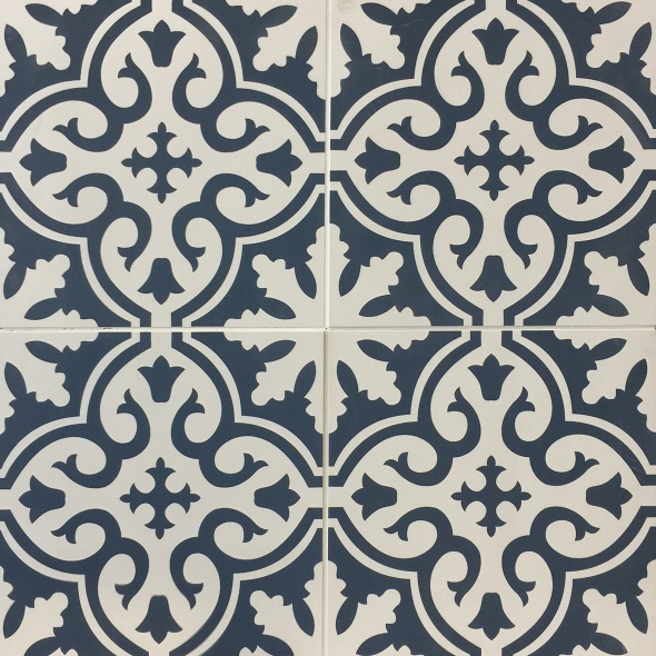 Perez Navy Porcelain Pattern  Tile
