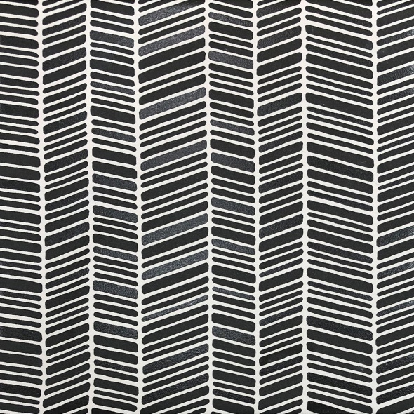 Charcoal Chevron Porcelain Pattern Tile